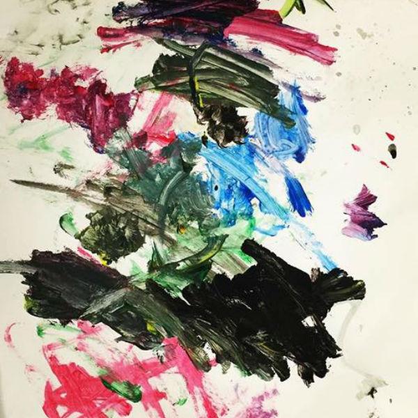 Маленький Роберт пишет картины в духе авангардистов