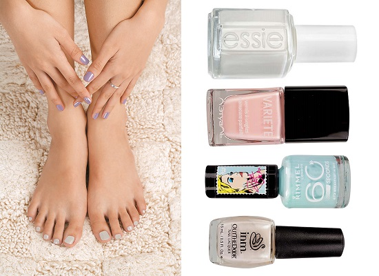 Variete, No402, Essie Лак для ногтей, Blanc,  Colorama by Maybelline NY Лак для ногтей, No324, 104 INM  Лак для ногтей Out The Door,  Rimmel Лак для ногтей