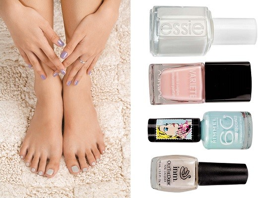 Variete, No402, Essie Лак для ногтей, Blanc,  Colorama by Maybelline NY Лак для ногтей, No324, 104 INM  Лак для ногтей Out The Door,  Rimmel Лак для ногтей