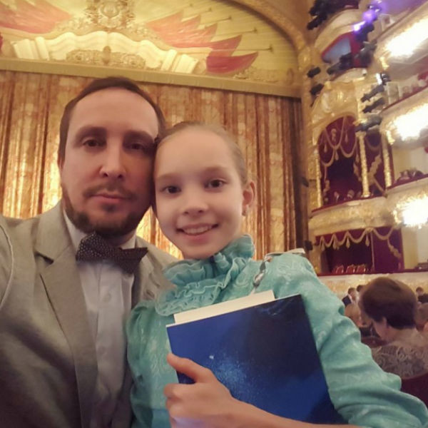 Александр Данко со старшей дочерью Соней