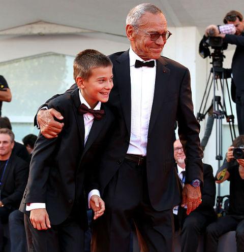 Андрей Кончаловский вместе с сыном Петром на красной дорожке в Венеции