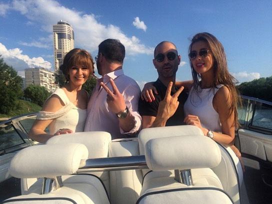 Мария Кожевникова с мужем и Кети Топурия с супругом Львом Гейхманом