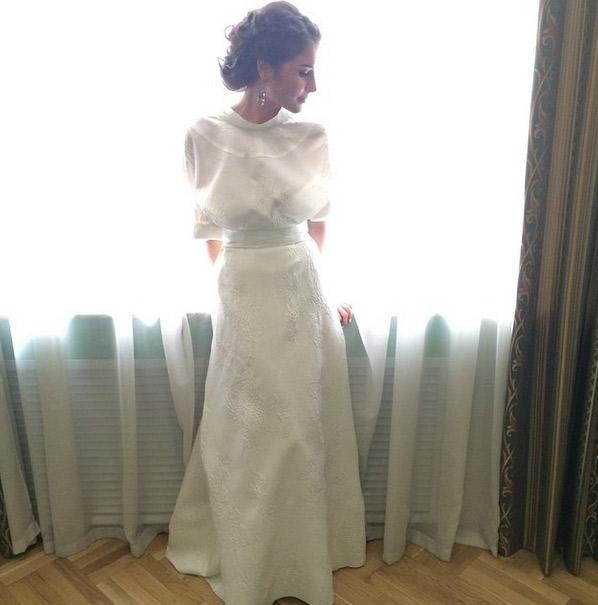 Платье невесты сшила модельер Светлана Тегин