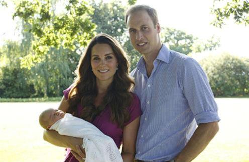 Принц Георг с родителями