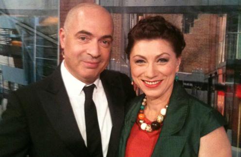 Михаил Грушевский и Роза сябитова на съемках программы