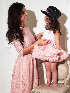 Оксана Самойлова с дочерью Ариелой