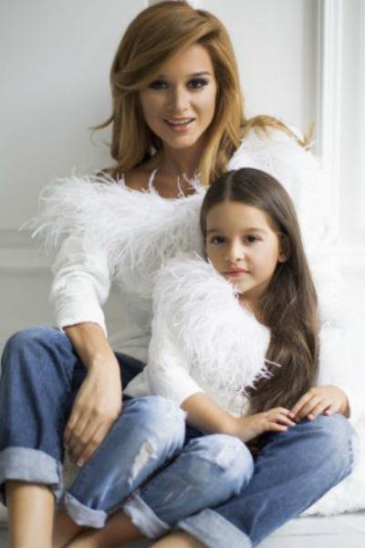 Ксения Бородина со старшей дочкой Марусей