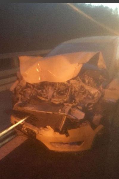 Такси, в котором ехал артист, сильно пострадало