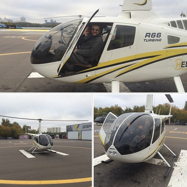 На таком вертолете Филипп Киркоров отправился в Плес