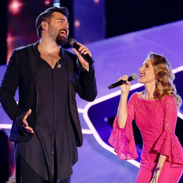 Юлия Ковальчук с мужем Алексеем Чумаковым