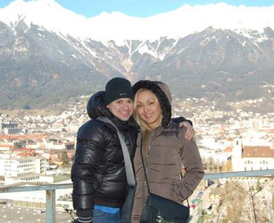 Андрей Гайдулян со своей девушкой Дианой в Австрии