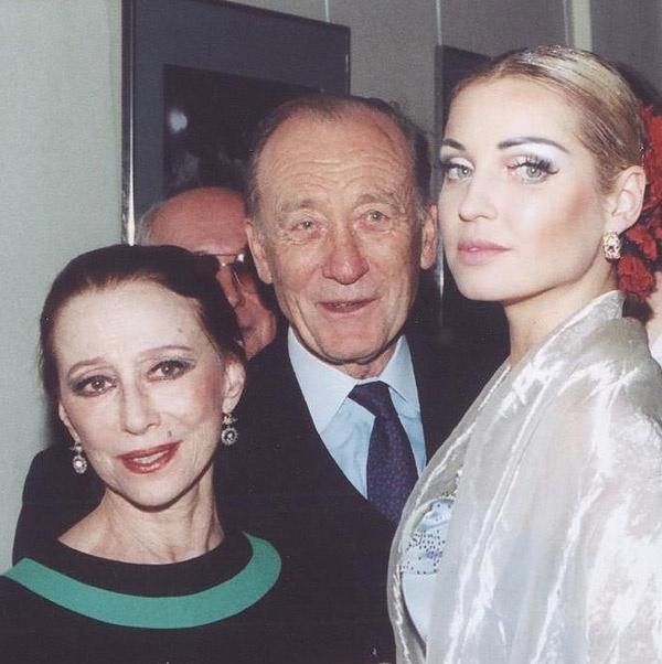 Майя Плисецкая и Родион Щедрин с Анастасией Волочковой