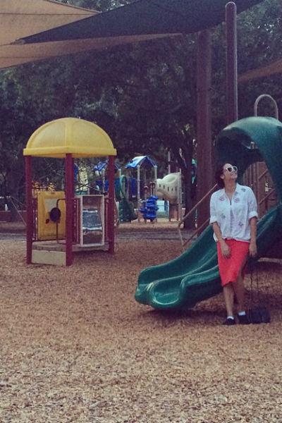 Ляйсан не показывает детей, зато выкладывает фотографии с прогулок с ними