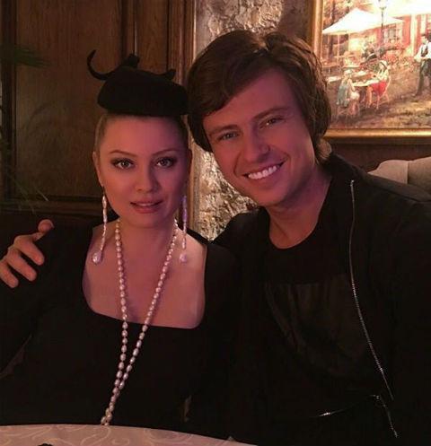 Прохор Шаляпин на ужине с Леной Лениной