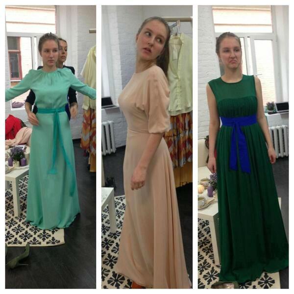 Полина выбирает платье на выпускной