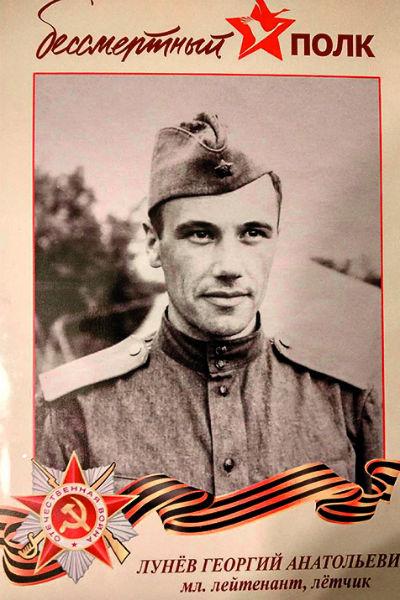 В прошлом году Георгий с фотографией деда принял участие в марше «Бессмертный полк»