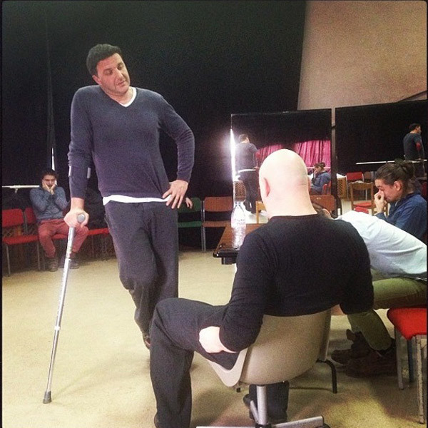 Виторган и Суханов на репетиции