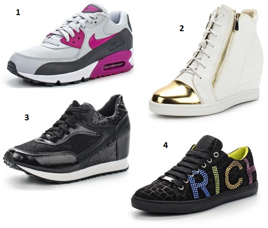 1. Nike 2. LOST INC. 3. Sergio Todzi 4. Richmond