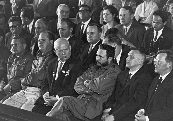 Фидель Кастро и Никита Хрущев в Москве