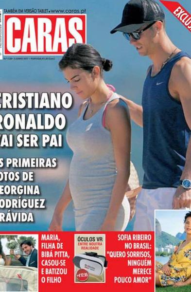 Журналисты таблоидов уверены, что Роналду станет отцом во второй раз