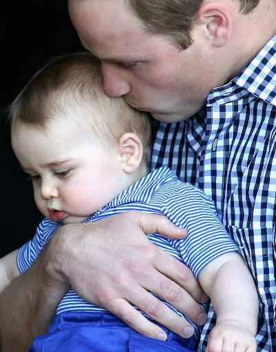 Принц Уильям просто обожает старшего наследника