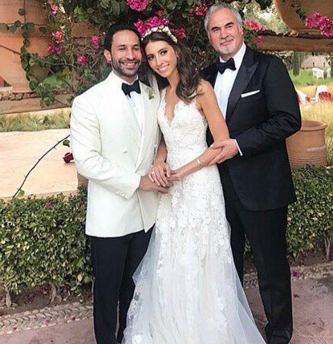 Инга Меладзе с мужем и отцом