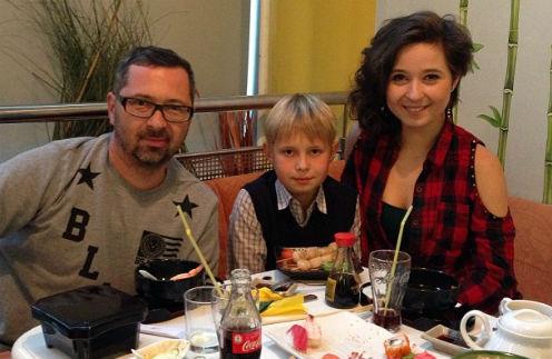 Алексей Рыжов, его сын от первого брака Иван и дочь Татьяна