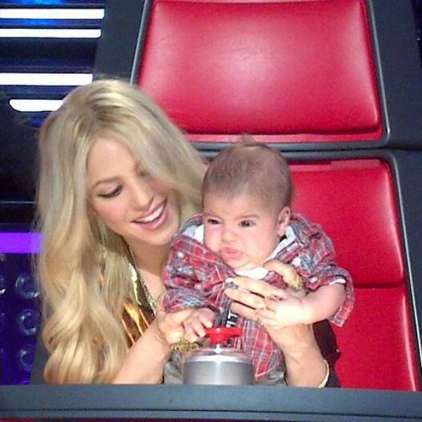 Шакира с сыном на шоу The Voice