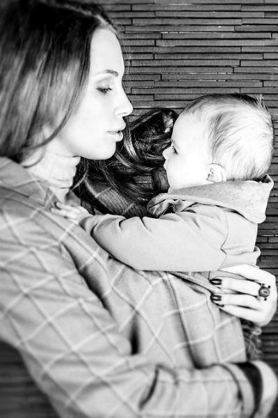 Полина Диброва с сыном Ильей