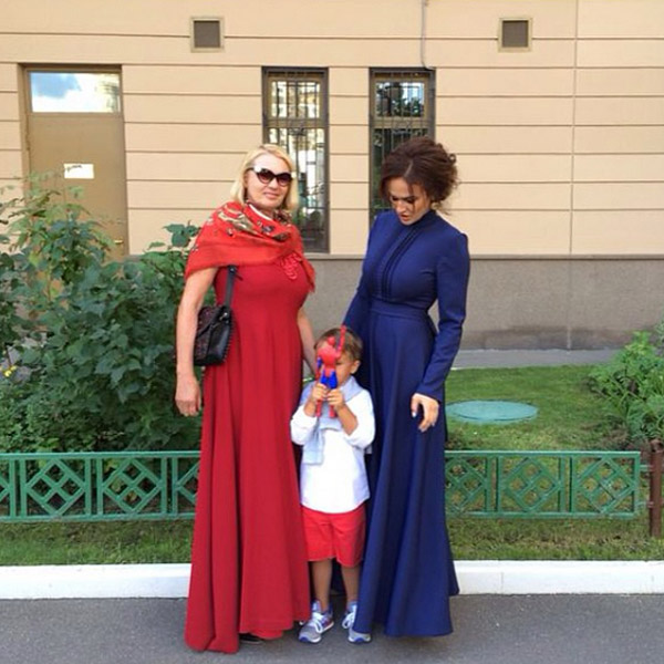 Лариса Водонаева с дочерью Аленой и внуком Богданом