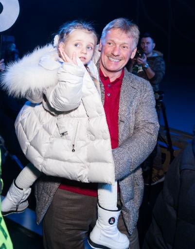 Дмитрий Песков с дочерью Надей