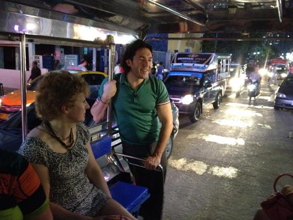 Андрей Малахов прокатился на местном такси