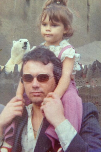 Виктория Бекхэм с отцом