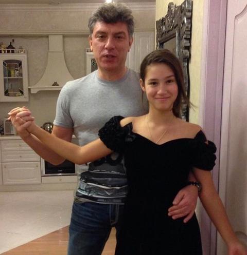 Борис Немцов с дочерью Диной