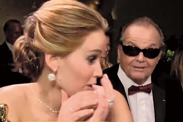 Николсон подкатывал к Дженнифер Лоуренс на церемонии вручения премии «Оскар»