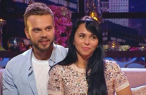 Максим Чернявский и Мария Дригола на съемках шоу