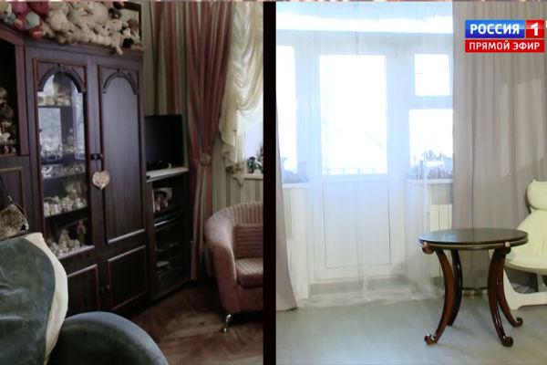 часть квартиры Семеновой - до и после