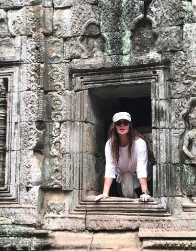 Телеведущая посетила древний храм