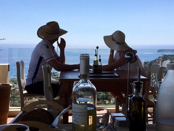 Мария недавно отдыхала с Виталием в Греции