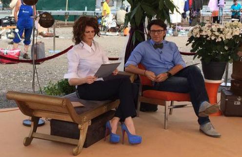 Ведущие программы «Барахолка» Регина Мянник и Андрей Малахов