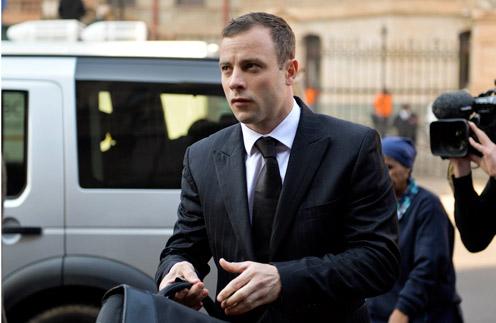 Оскар Писториус прибывает на судебное заседание