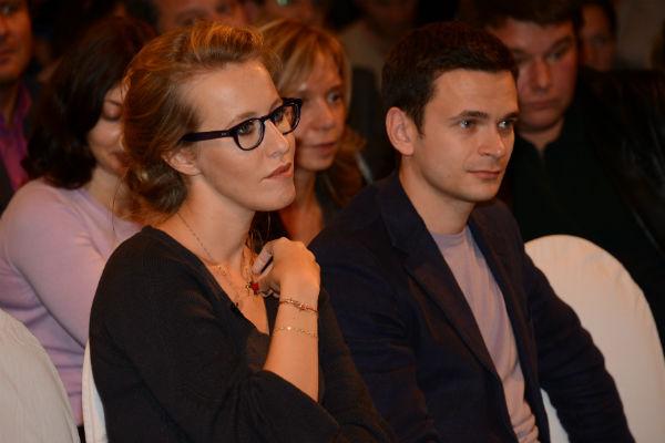 Илья Яшин и Ксения Собчак
