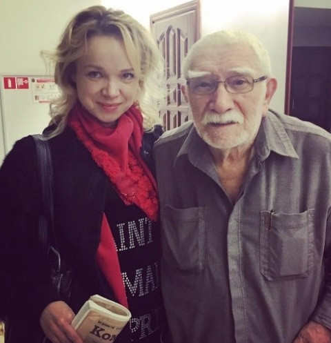 Армен Джигарханян с женой Виталиной