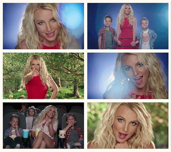 Бритни выложила несколькок адров из будущего клипа