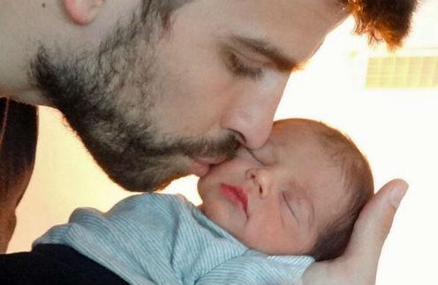 Жерар Пике с сыном Миланом Пике