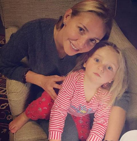 Татьяна Навка с дочкой Надей