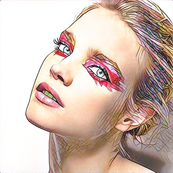 Наталья Водянова выложила фото в стиле мозаики