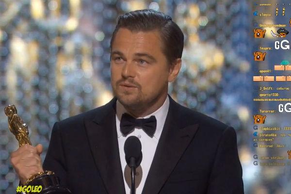 Фанаты Лео выражают эмоции во время трансляции церемонии