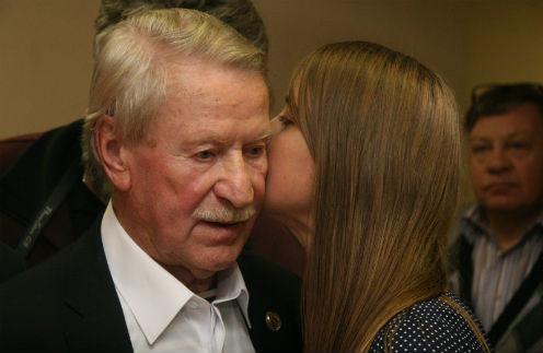 Иван Краско с молодой супругой