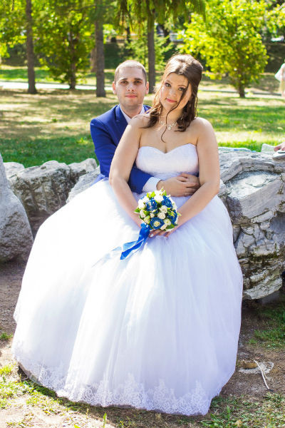 Аня Столяровская c супругом